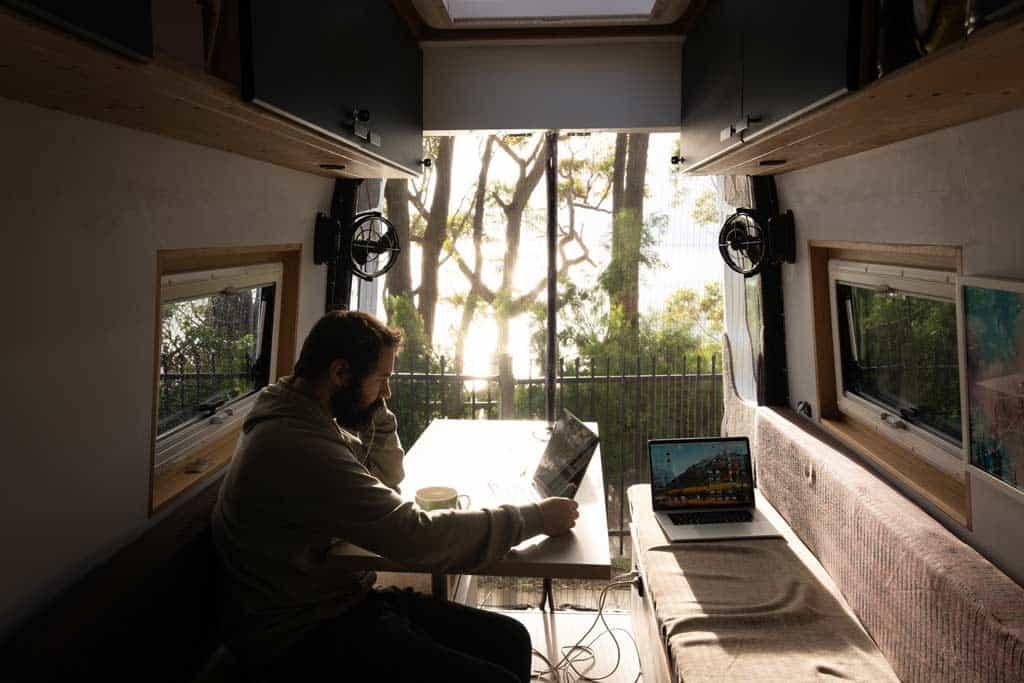 Jazza Working in Van