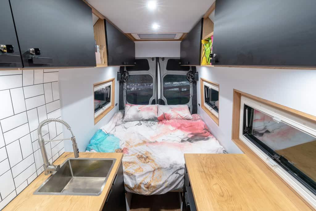 Van Interior Bed Made 2 1