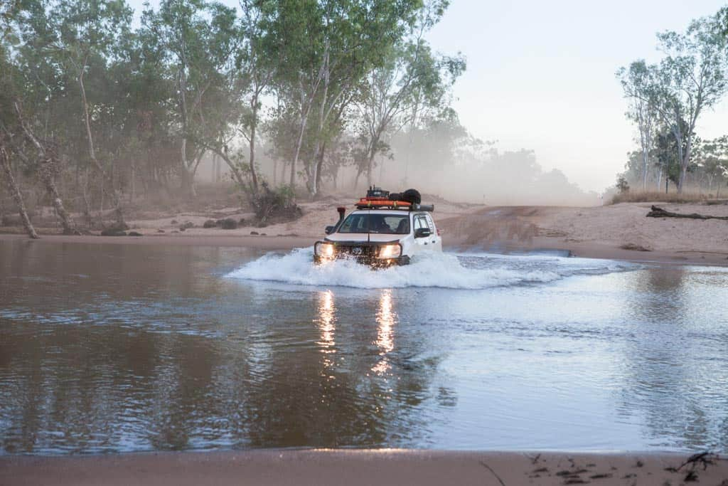 Water crossing in Australia