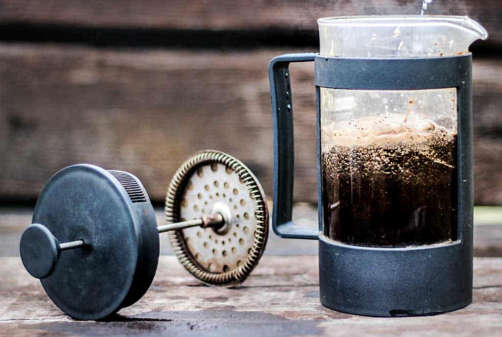 French press campervan coffee maker