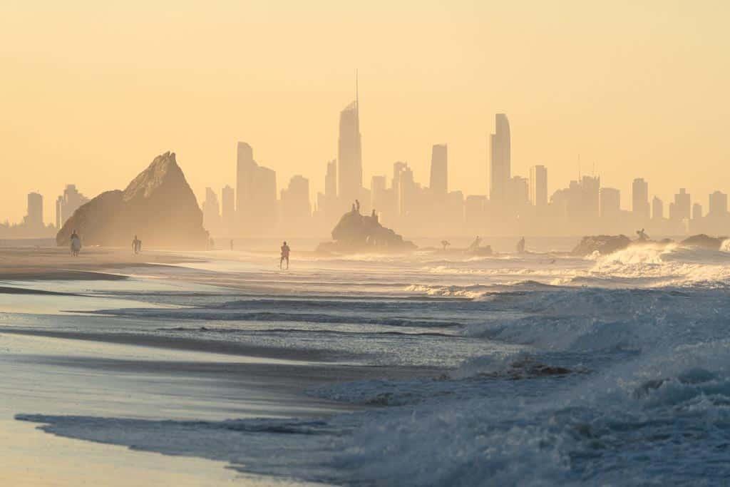 Currumbin Beach Gold Coast Sunset