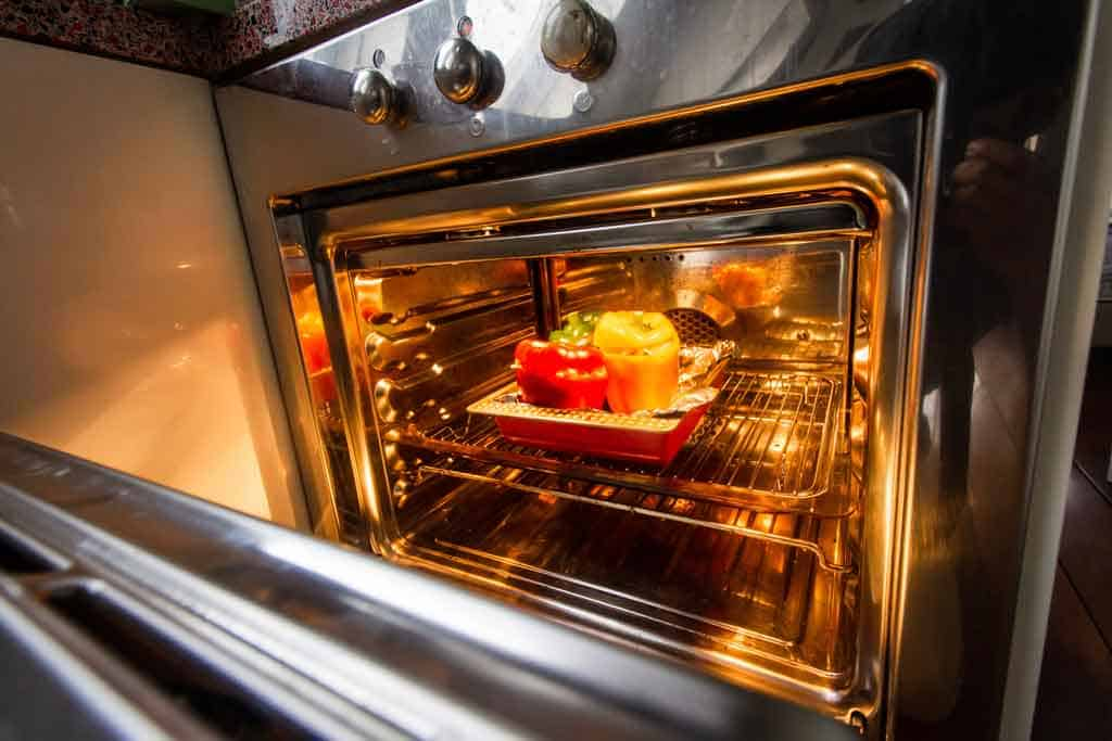 Roasted vegetables in RV oven