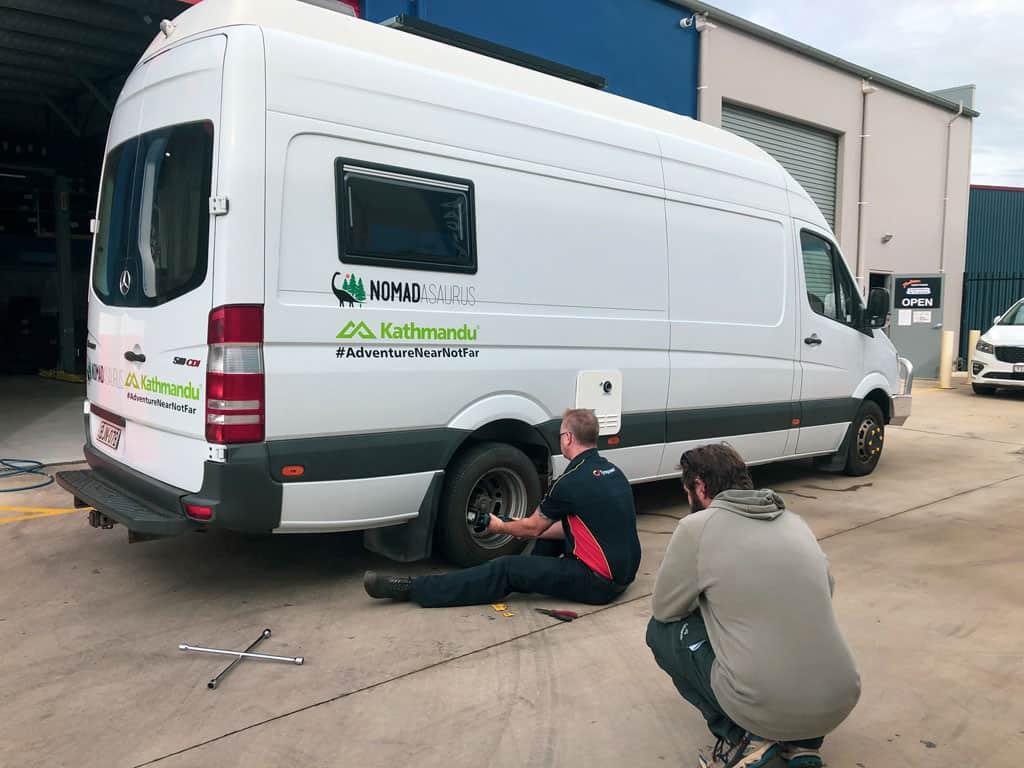 Repairing Tyre