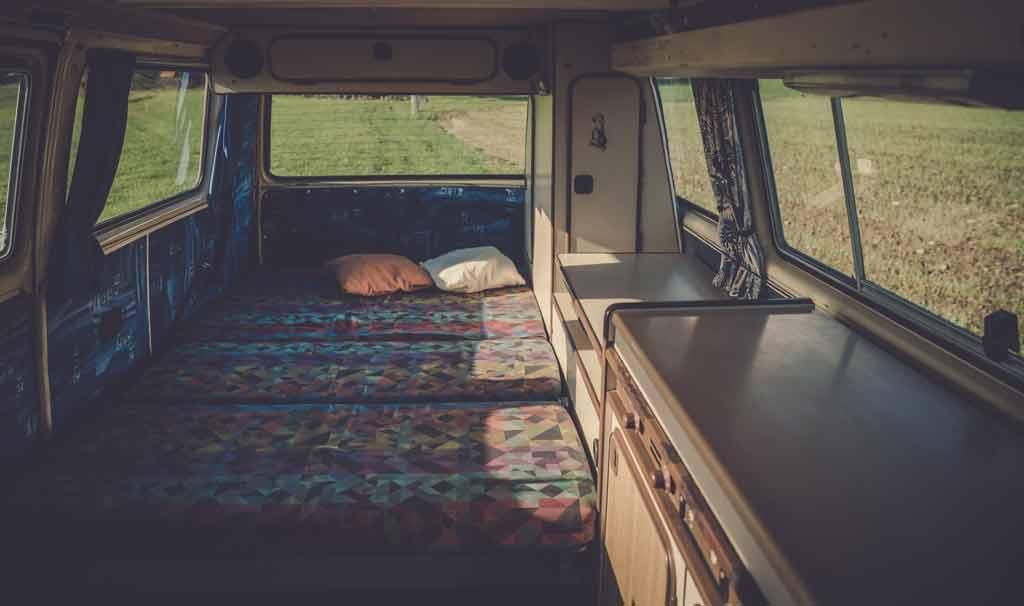 Space Inside Van for Mattress