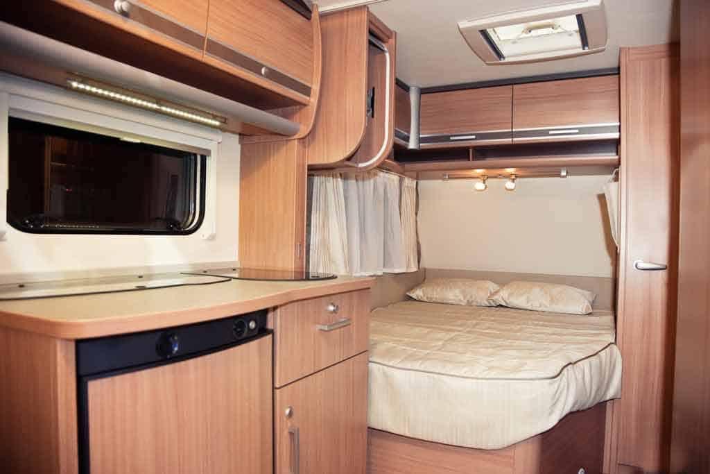 Bed Inside RV