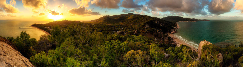Sunset from Hawkings Lookout Magnetic Island