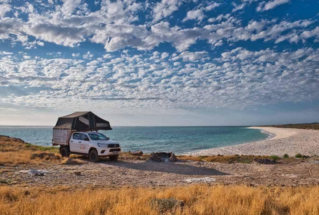 Car with Beach Views