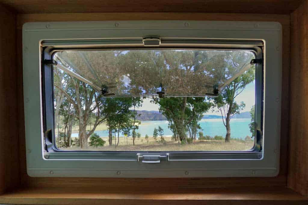 Lake Blowering Window View