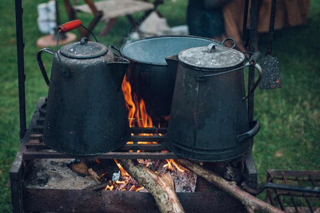 Pots and Pans on Barbecue