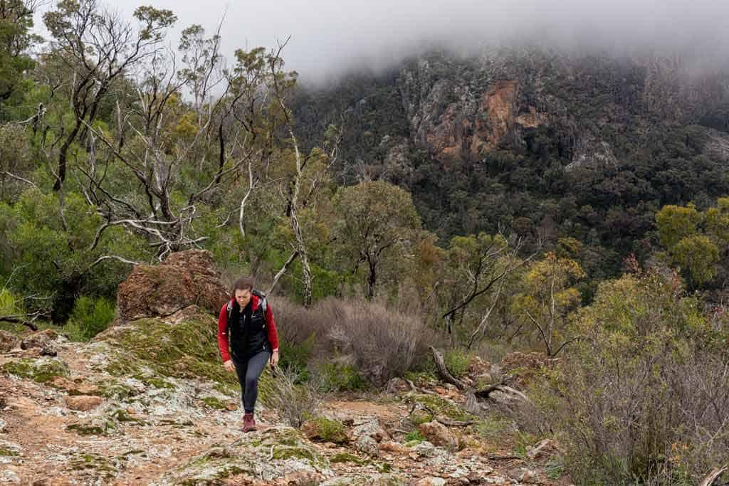 Alesha hiking in the Warrumbungles
