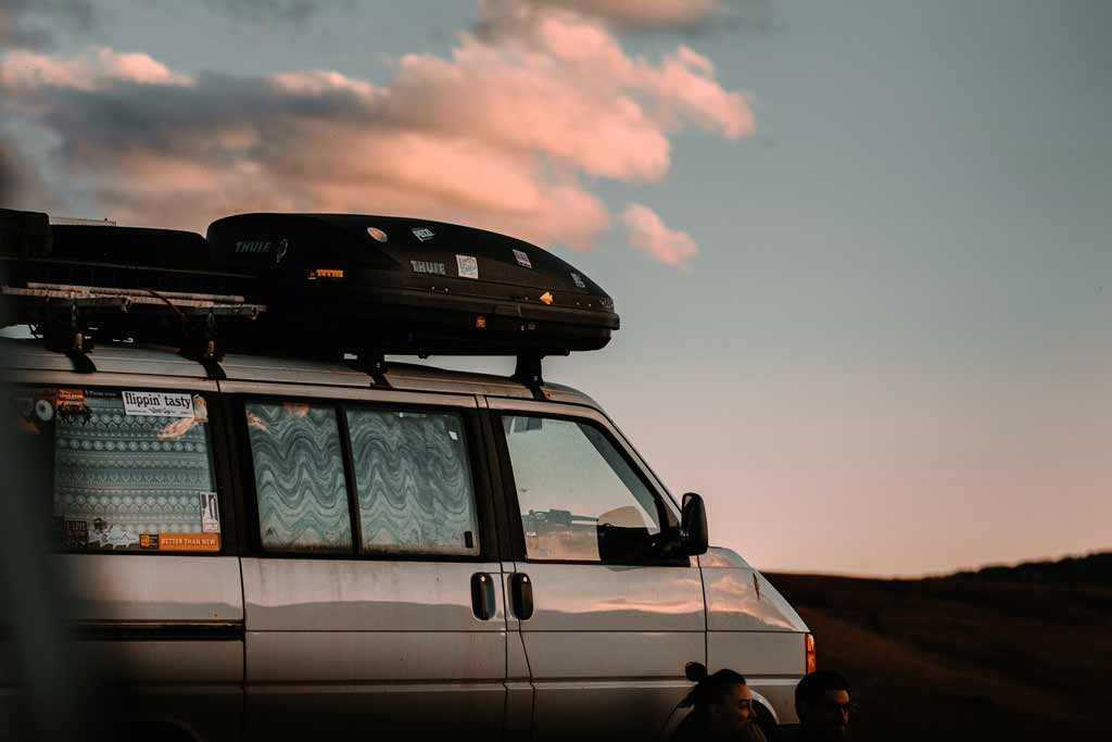 Campervan Parked with Views