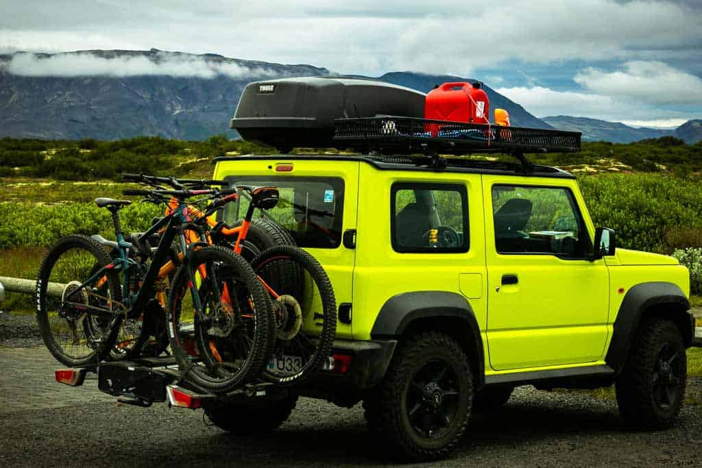Bike and Roof Rack on Jeep